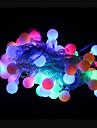 50-главе 9м водонепроницаемый открытый рождественские украшения праздник RGB светодиодный свет шнура (220В)