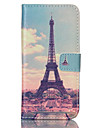 For Samsung Galaxy Case Card Holder / Wallet / with Stand / Flip Case Full Body Case Eiffel Tower PU Leather SamsungS6 edge / S6 / S5