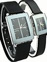 Hombre / Mujer / Pareja Reloj de Vestir Cuarzo Caucho Banda Negro Marca-