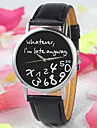 New Fashion Women Leather Wristwatches Letter Geneva Watch Whatever Late Irregular Figure Quartz Watch Cool Watches Unique Watches