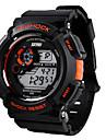 SKMEI 남성 스포츠 시계 손목 시계 디지털 시계 LCD 달력 크로노그래프 방수 경보 스포츠 시계 석영 디지털 일본 쿼츠 고무 밴드 블랙