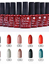 1PCS Sequins UV Color Gel Nail Polish No.61-72 Soak-off(10ml,Assorted Colors)