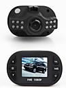 mini caja de negro 1.5 \'\' TFT Full HD 1080p videocamara DVR coche con 12 IR-LED de vision nocturna