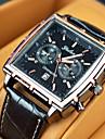 reloj de vestir Relojes calendario rectangulo de los hombres