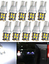lorcoo ™ 20pcs x T10 20SMD 3528 weisse LED-Autoscheinwerfer Gluehlampe 194 168 2825 5W (2 set)