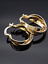 18K Russia 585 Golden Plated Rose Color Multilayer Earrings