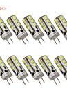 10 pcs  G4 3W 24 SMD 2835 280 lm Warm White / Cool White T Decorative LED Bi-pin Lights DC 12 / AC 12 V