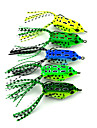 """5 pcs Soft Bait / Fishing Lures Soft Bait / Frog Green / Yellow / Light Green / Forest Green / Blue 8 g/5/16 oz. Ounce,55 mm/2-1/4"""" inch,"""