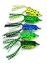 "5 штук Мягкие приманки Рыболовная приманка Мягкие приманки Лягушка Зеленый Желтый Светло-зеленый Зеленый лес Синий г/Унция,55 мм/2-1/4"""