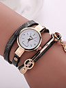 New Fashion  Women Dress Wristwatch Vintage Quartz Analog Watch New  Bracelet Quartz  PU Wrist Watch Cool Watches Unique Watches