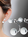 Earring Drop Earrings Jewelry Women Silver Plated 2pcs Silver