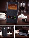 Для Кейс для  Samsung Galaxy со стендом / с окошком Кейс для Чехол Кейс для Один цвет Искусственная кожа Samsung S5
