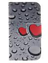 Pour Samsung Galaxy Coque Porte Carte Portefeuille Avec Support Clapet Coque Coque Integrale Coque Coeur Cuir PU pour Samsung Core Prime