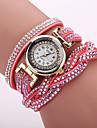 Xu™ Femme Montre Tendance Bracelet de Montre Montre Decontractee Quartz Polyurethane Bande Fleur Leopard BohemeNoir Blanc Bleu Rouge