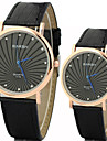 Couple's Simple and Casual Round Dial Belt Fashion Quartz Watches Cool Watches Unique Watches Strap Watch