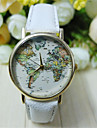 Unisex World Map Style Watch/Vintage World Map/Antique World Map/ Ladies Watch/ Women Premium Faux Leather Wrist Watch Cool Watch Unique Watch