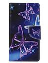 krystal sommerfugl pu læderetui omkring åben for galaksen S5 / S6 / s6edge / s6edge plus