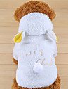 Dog Hoodie White Dog Clothes Winter Solid