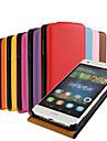 용 화웨이 케이스 / P8 Lite 플립 케이스 풀 바디 케이스 단색 하드 인조 가죽 Huawei Huawei P8 Lite