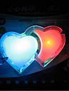 doble amor de color luces de la noche del LED