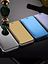 Para iPhone 8 Plus iPhone 6 iPhone 6 Plus Case Tampa Espelho Flip Corpo Inteiro Capinha Cor Solida Rigida Metal para iPhone 8 Plus iPhone