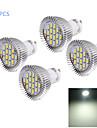 8W GU10 LED-spotlights MR16 16 SMD 5630 750 lm Kallvit Dekorativ AC 220-240 V 4 st