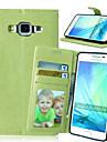 Para Samsung Galaxy Capinhas Porta-Cartao / Com Suporte / Flip / Magnetica Capinha Corpo Inteiro Capinha Cor Unica Couro PU Samsung