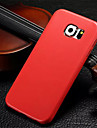 Для Кейс для  Samsung Galaxy Ультратонкий Кейс для Задняя крышка Кейс для Один цвет Искусственная кожа Samsung S6 edge / S6