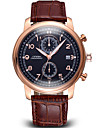 SINOBI®Auto Date Luminous Hands Real Small Dial PU Leather Strap Watches Brand Luxury Rose Gold Coffee Watch