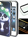 Pour Coque iPhone 5 Lampe LED Allumage Auto Coque Coque Arriere Coque Animal Flexible TPU iPhone SE/5s/5