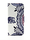 For iPhone 6 Case / iPhone 6 Plus Case Wallet / Card Holder / with Stand / Flip / Pattern Case Full Body Case Elephant Hard PU Leather