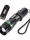 LED Lommelygter LED 3 Modus 500 Lumens Vandtaet / Oppladbar / Nedslags Resistent / Strike Bezel / Taktisk / Noedsituasjon Cree Q518650 /