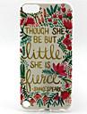 fraiche modele mots de peinture de fleur TPU etui pour iPod Touch 5