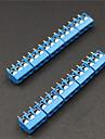 3-контактный 5,0 мм клеммные колодки Разъемы - синий (10 шт)