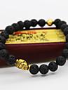 Men Fashion Bracelet Pulseras Mujer Black Lava Stone Buddha Beads Bracelet Jewelry Christmas Gifts