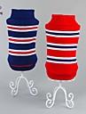 Gatos / Caes Sueters Vermelho / Azul Roupas para Caes Inverno / Primavera/Outono Riscas Da Moda / Casual