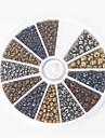 beadia 1caixa/ 46g Missangas vidro tamanho sortido 2 milimetros 4 milimetros 3 milimetros cores metalicas rodada mistos pequenos granulos