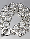 Fashion Exaggerated Luxury 925 Silver Party Chain & Link Bracelets For Woman&Lady Christmas Gifts