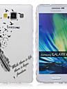 용 삼성 갤럭시 케이스 투명 / 패턴 케이스 뒷면 커버 케이스 단어 / 문구 TPU Samsung A5 / A3