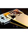 Pour Samsung Galaxy Coque Plaque Miroir Coque Coque Arriere Coque Couleur Pleine Polycarbonate pour Samsung A8 A7 A5