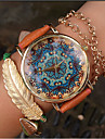 Paisley Watch, Vintage Style Leather Watch, Women Watches Fashion Boyfriend Watch Gift Boteh Hippie Revolution Cool Watches Unique Watches Strap Watch