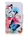 For Samsung Galaxy Case Card Holder / Wallet / with Stand / Flip / Pattern Case Full Body Case Butterfly PU Leather SamsungJ7 / J5 / J3 /