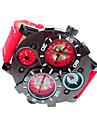 JUBAOLI 男性 軍用腕時計 リストウォッチ カレンダー クォーツ レザー バンド ブラック ブルー レッド ブラウン ネービー