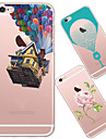 For iPhone 5 Case Ultra-thin / Translucent / Pattern Case Back Cover Case Cartoon Soft TPU iPhone SE/5s/5