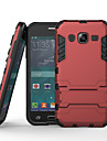 Для Кейс для  Samsung Galaxy Защита от удара / со стендом Кейс для Задняя крышка Кейс для Армированный PC Samsung J3