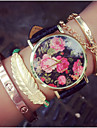 Vintage Rose Flowers Watches For Women Womens Watches Retro Gifts For Her,Birthday Gift Cool Watches Unique Watches Fashion Watch Strap Watch