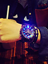 Da uomo Orologio da polso Creativo unico orologio Quarzo LED Silicone Banda Nero Nero/Rosso Nero/Bianco Verde/Nero Nero/Blue