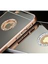 Pour Coque iPhone 5 Strass Plaque Miroir Coque Coque Arriere Coque Couleur Pleine Dur Polycarbonate pour iPhone SE/5s/5