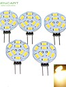 5W G4 LED Spot Lampen MR11 9 SMD 5730 360-450 lm Warmes Weiss Dimmbar DC 12 / AC 12 V 5 Stueck