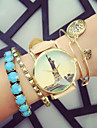 Vintage Style Fashion Women'S Watches Eiffel Tower Analog Quartz Watches Student Wristwatch Cool Watches Unique Watches